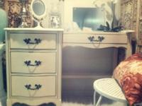 Shabby Chic Bedroom Vintage Beauty Vanity Desk