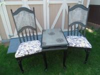 Super adorable black and silver Shabby Chic style