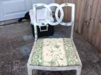 Solid wood vintage chair easily paint-able to whatever