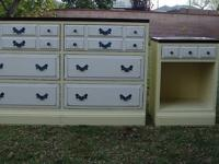SHABBY CHIC/COTTAGE STYLE 6 DRAWERS,DRESSER & NIGHT