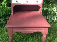This is a beautiful Shabby Distressed Refinished Red
