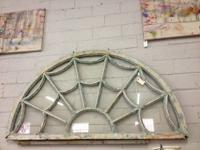 Shabby Chic Distressed Wood Spider Web Window 5' Wide x
