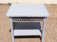 This is a lovely Shabby Chic Hand Painted Grey End