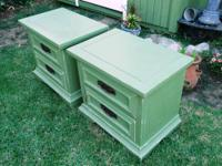 SHABBY CHIC/FRENCH PROVINCIAL,2 NIGHT STANDS/SIDE