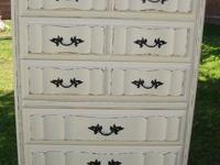 SHABBY CHIC/FRENCH PROVINCIAL,DRESSER 5 DRAWER VINTAGE