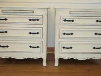 SHABBY CHIC/FRENCH PROVINCIAL NIGHT STANDS/SIDE TABLES