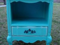 SHABBY CHIC/FRENCH PROVINCIAL STYLE, BLUE TURQUOISE