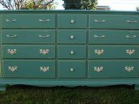 SHABBY CHIC/FRENCH PROVINCIAL,12 DRAWERS,TURQUOISE