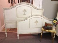 Shabby Chic Headboard and Footboard Full Size Headboard