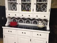 Beautiful shabby chic hutch that would look great in a