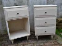 Two adorable shabby chic side tables. These are a