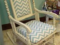 MASH'D - cream colored rocking chair - new chevron