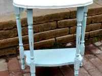 Cute side table /entry table painted aqua blue and