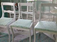 Shabby Chic Sky Blue Chairs. $28 each. Have only 3