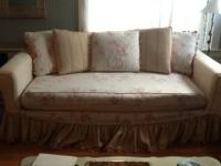"I am selling   ""Shabby Chic"" couch. It is made of down"