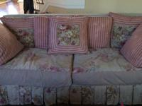 Used 6 year old Shabby Chic Sofa Loveseat and Chair