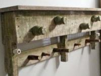 Actually cool Shabby Chic wall rack and coat rack.