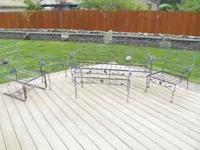 Complete outdoor living set includes, Wrought Iron