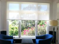 We manufacture fabric roll-up window treatments.