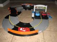 Gently used Shake & Go Racers: Raceway Playset. This is