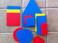 Teach your student how to group blocks by shape, size