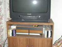 27 inch Panasonic tv with stand. Works good, moving.