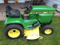 Nice john deere 212 with 46inch cut and 12hp kohler
