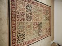 "Shaw Classic Design Area Rug 92"" x 65"" Like New Shaw"