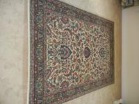 "Shaw Expressions Classic Area Rug 96"" x 68"" Like New"