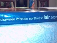 For sale one gently used Shawnee Mission Northwest lair