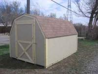 New all wood storage shed, 8x12, well built, fully