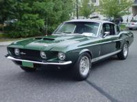 The 1967 Ford Shelby Mustang GT350 is a classic, Green,