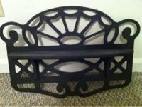 Black, wooden, decorative, wall hanging shelf $5 Pls