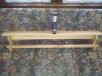 Selling one rack with top shelf. Pine - Poplar wood