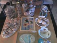 ASSORTMENT OF SHELLS AND NAUTICAL THINGS.............