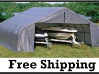 �� Shelter Logic Portable 2 Car Garage  STOP Weather