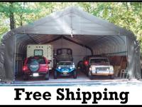 �� Shelter Logic Portable 3 Car Garage  STOP Weather