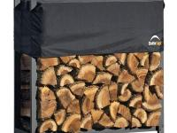 Our best built ultimate firewood storage rack with 2