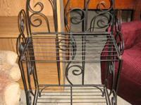 "Square wire decorative shelf or rack. 34"" tall x 18"""
