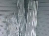 Shelving, White Wire by ClosetMaid 4) 48? x 12? closet