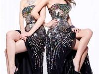 Sherri Hill Prom Dress, black sequins and all jewels