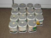 15 - 1 QUART SHERWIN WILLIAMS PAINT SAMPLES IN PLASTIC