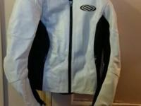 This is a Womens Shift Leather Jacket in Mint
