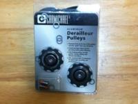 Shimano Aluminum Derailleur Pulleys. Sealead bearings