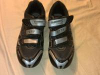 For sale: 1 pair of Shimano RD75 SPD road bike shoes.