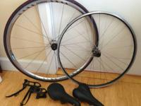 Set of 2 wheels, one is Shimano and one is Specialized.