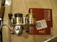 I'm selling a used Shimano Spirex 4000FE reel with