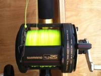 I have three Shimano TLD 25 reel with new line on a