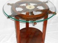"Type: Living RoomType: TablesSolid teak 24"" ships wheel"