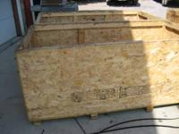 "selling shipping boxes made of OSB 24/16"" about 1/2"""
